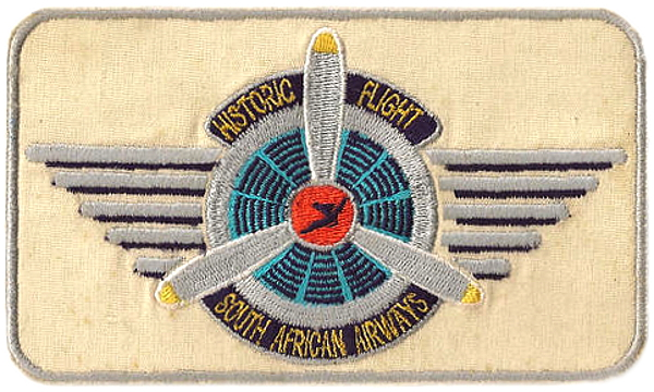 South African Airways Historic Flight cloth patch badge