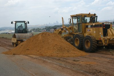 Barloworld Equipment used to widen the main runway at Rand Airport