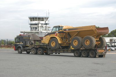 Barloworld Equipment used to widen main runway at Rand Airport